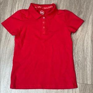 Girls Red Polo short sleeve shirt